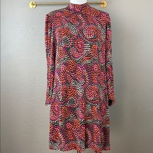 French Connection mosaic print shift dress